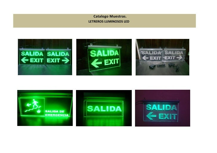 Catalogo Muestras.LETREROS LUMINOSOS LED