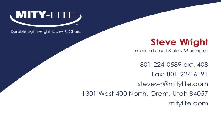 Steve Wright               International Sales Manager                 801-224-0589 ext. 408                     Fax: 801-...