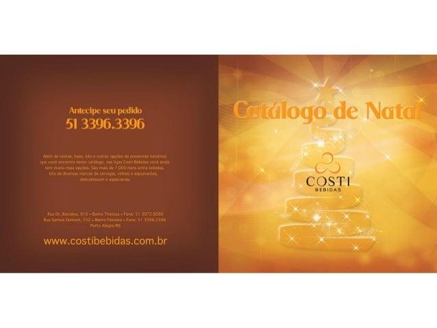 Catalogo Natal 2013 Costi Bebidas