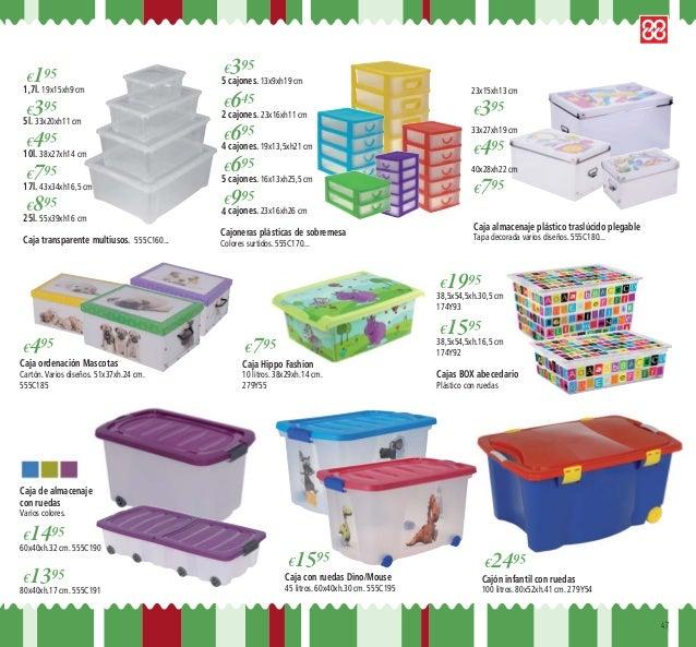 Catalogo navidad ferreteria gines - Caja almacenaje plastico ...