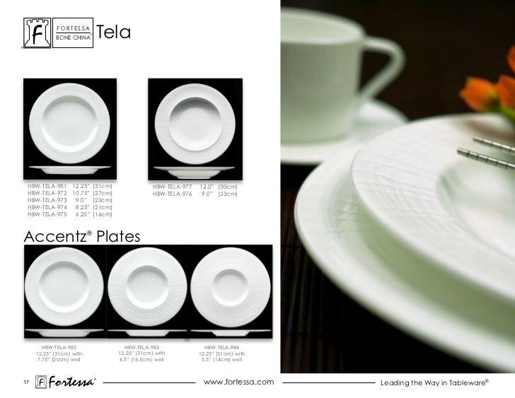 "ForTessa            Bone china                          Tm                                   Tela HBW-TELA-981 12.25"" (31c..."