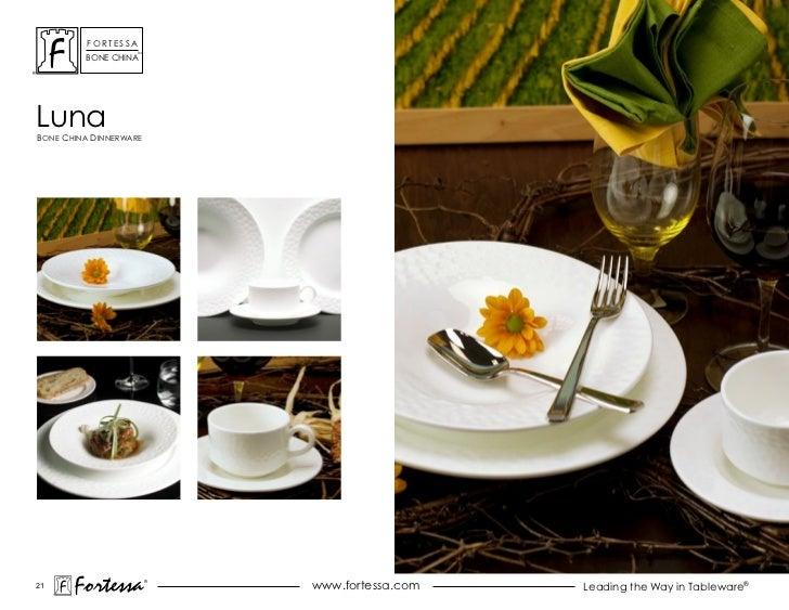 ForTessa                    Tm         Bone chinaLunaBone china dinnerWare21       Fortessa          ®                    ...