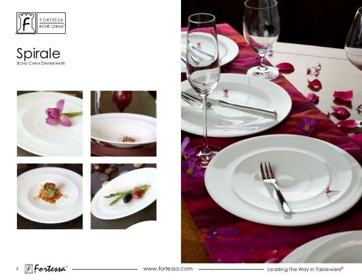 ForTessa                    Tm         Bone chinaspiraleBone china dinnerWare5       Fortessa          ®                  ...