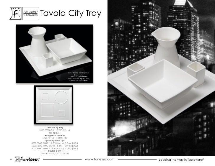 """ForTaLuxe®      suPerWhiTe®       Tavola city Tray                                                5500.F0000.50 10.75"""" (27..."""