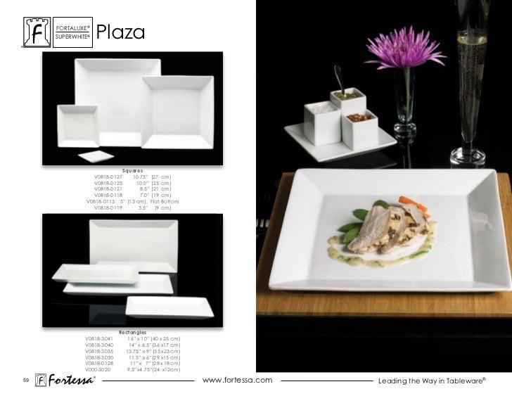 "ForTaLuxe®      suPerWhiTe®       Plaza                            Squares                 V0818-0127    10.75"" (27 cm)   ..."