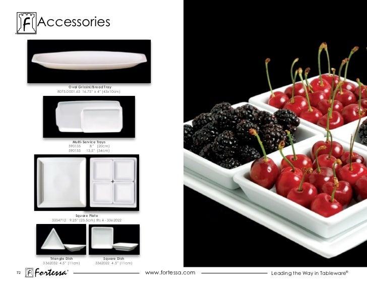 """accessories                    Oval Grissini/Bread Tray              8075.0001.63 16.75"""" x 4"""" (43x10cm)                   ..."""