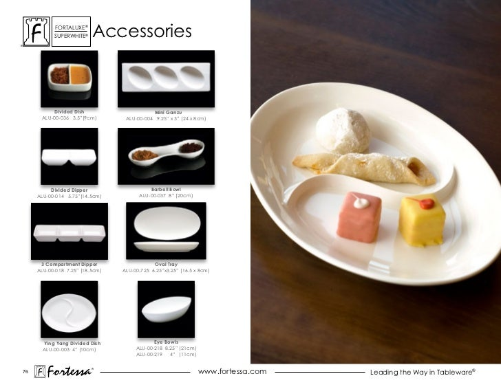 """ForTaLuxe®           suPerWhiTe®    accessories          Divided Dish                      Mini Ganzu      ALU-00-036 3.5""""..."""