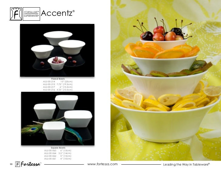 accentz      ForTaLuxe®                                     ®      suPerWhiTe®                               Flared Bowls ...