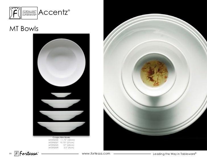 accentz      ForTaLuxe®                         ®      suPerWhiTe®mT Bowls                           Coupe Rim Bowls      ...