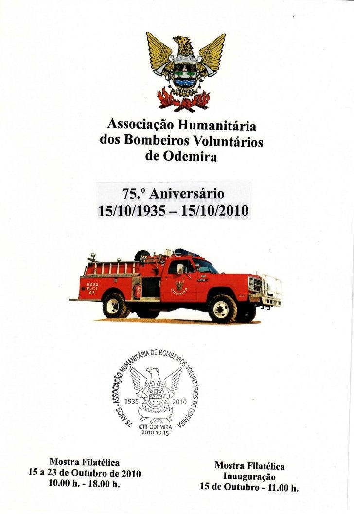 AssociaçãoHumanitária                dos BombeirosVoluntários                      de Odemira                      15.oAni...