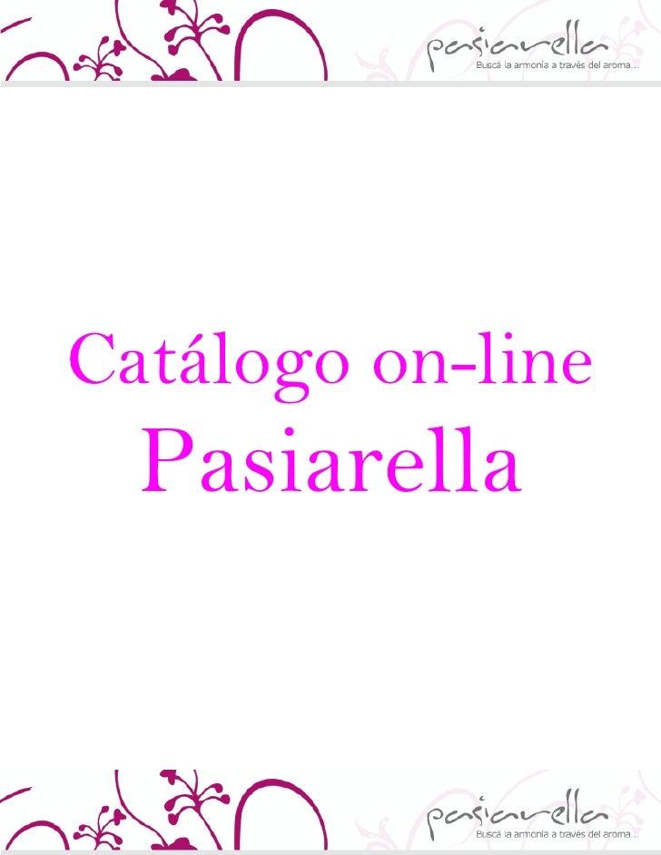 Catálogo on-line   Pasiarella