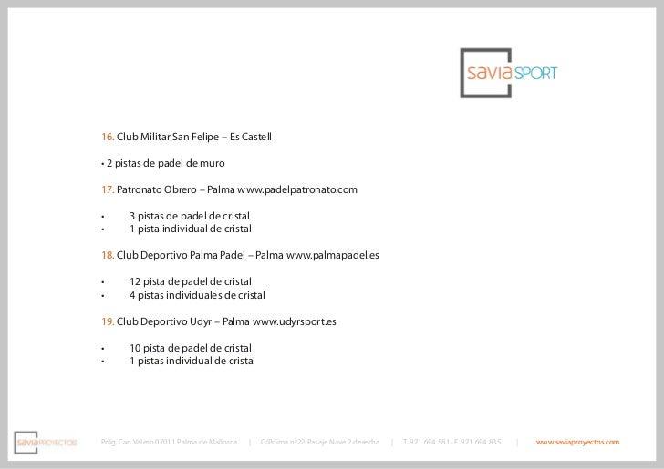 Catalogo construcci n y fabricaci n de pistas de padel for Pista de padel individual