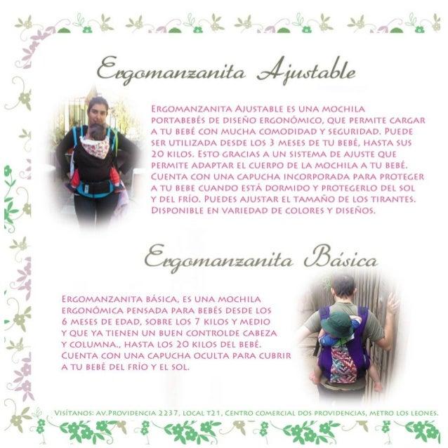 Catálogo portabebes ergonómicos Manzanita bebé