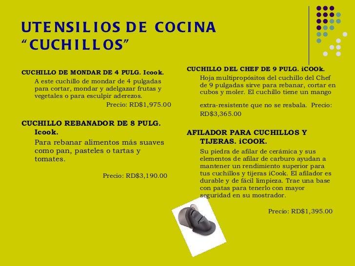 Catalogo de productos - Cuchillos icook amway ...