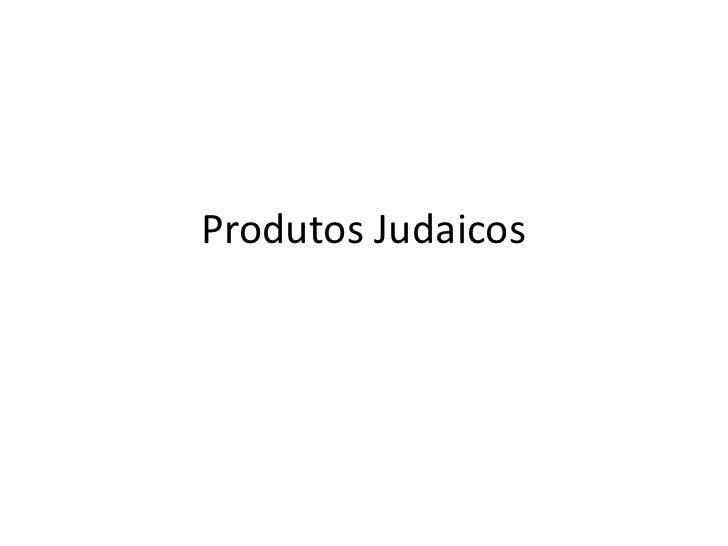 Produtos Judaicos
