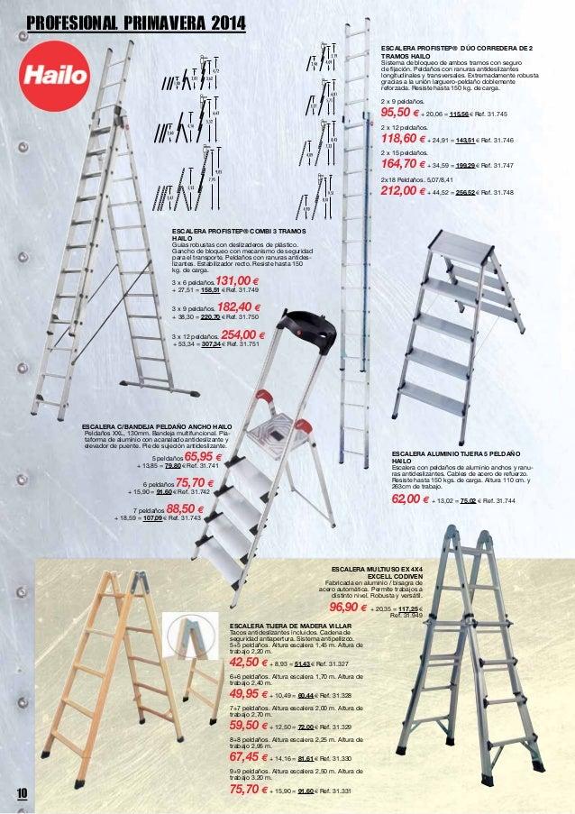 Cat logo profesional de herramientas y utensilios - Escalera de madera de pintor ...