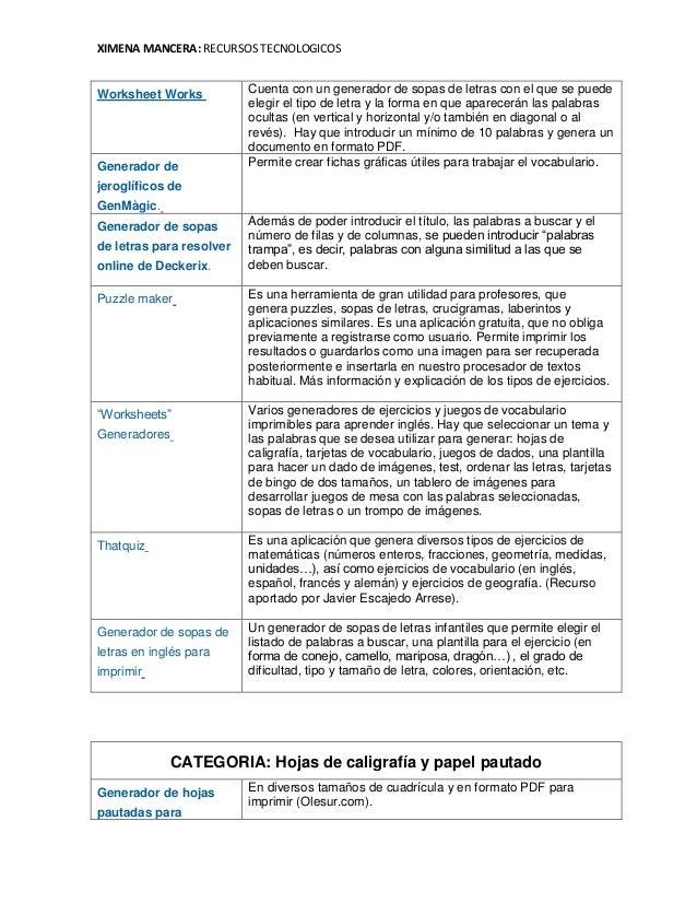 Vistoso Generador De Hoja De Palabra Imagen - hojas de trabajo ...