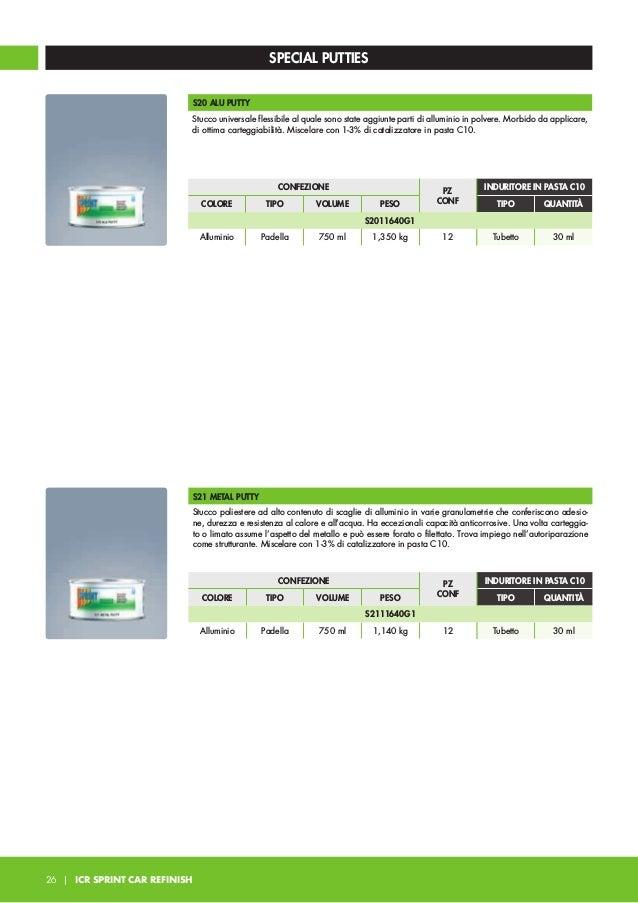 SPECIAL PUTTIES S35 PLASTIC PUTTY Stucco flessibile consigliato specificatamente per la stuccatura di materie plastiche ad...