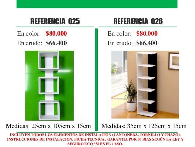 Catalogo repisas flotantes y muebles modernos for Catalogo muebles modernos