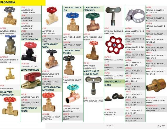 Catalogo sanitario for Llave para sanitario