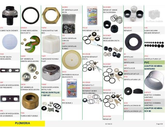 Catalogo sanitario for Partes de una llave de ducha