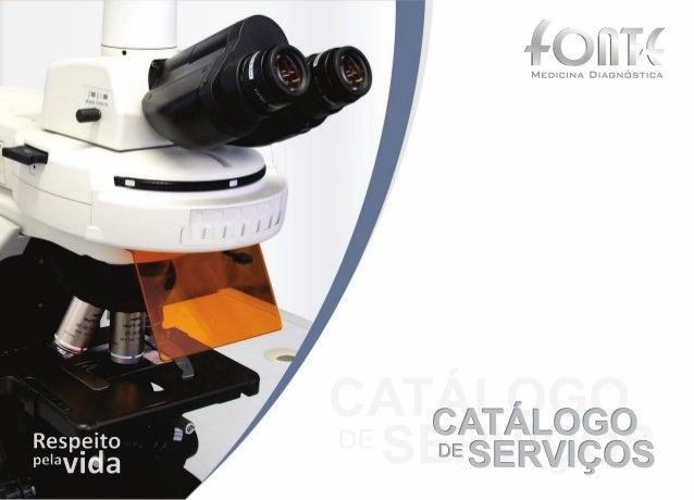 Catálogo de Serviços - Fonte Medicina Diagnóstica