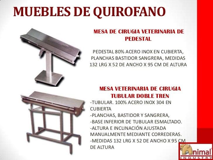 Catalogo animal industry for Mesa quirofano veterinaria