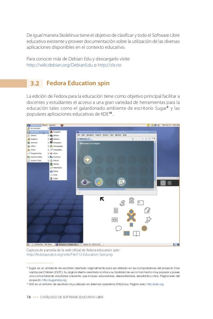 Catálogo Software Educativo Libre.