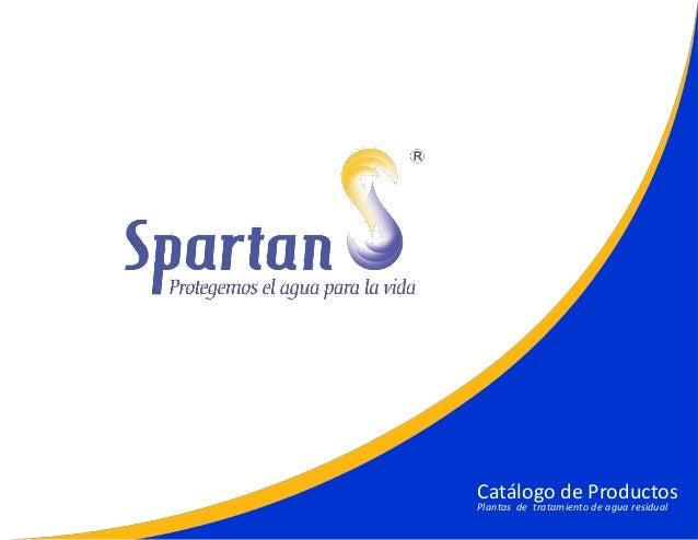 Catálogo de Productos Plantas de tratamiento de agua residual