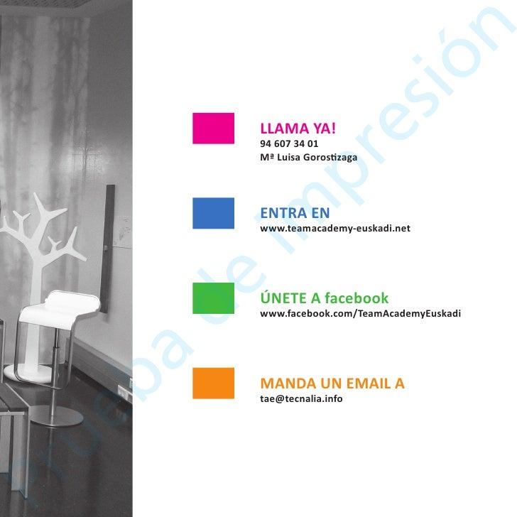 Catalogo Team Academy Euskadi 2010