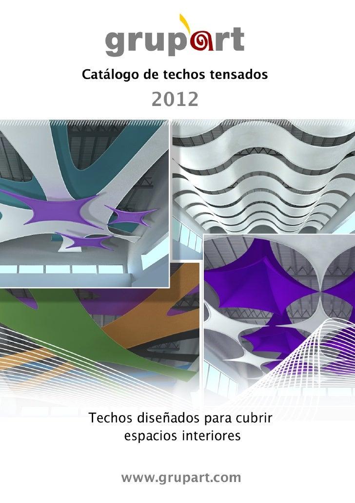 Catalogo techos telas tensadas 2012 - Cama con techo de tela ...