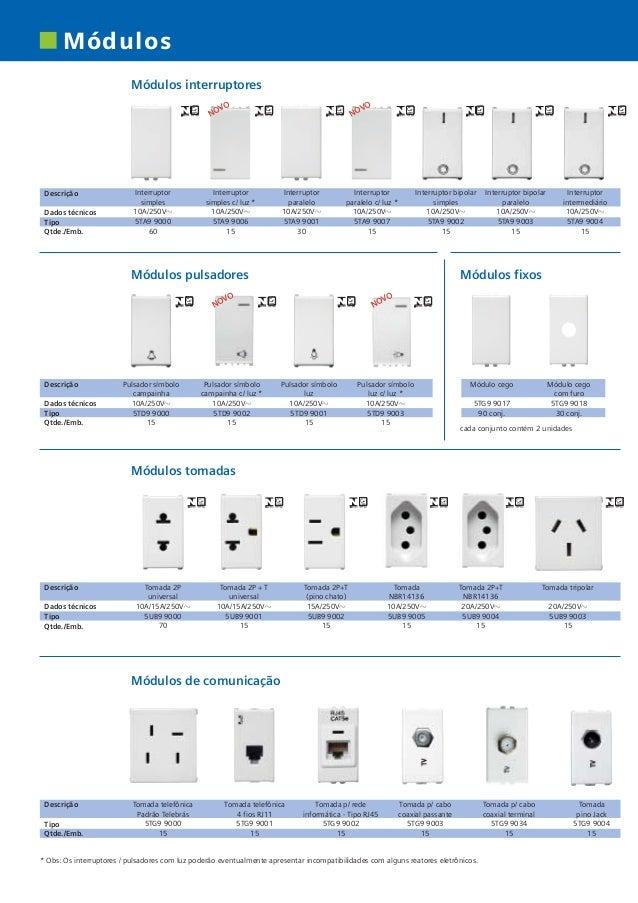 Catalogo tomadas e interruptores - Modelos de interruptores de luz ...