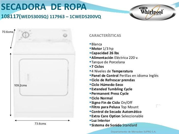 Manual de uso whirlpool wsr682 secadora.