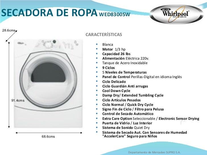 Catalogo whirlpool - Secador de ropa ...