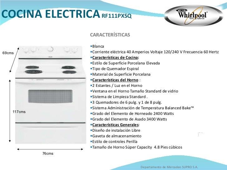 Catalogo whirlpool for Cocina electrica consumo