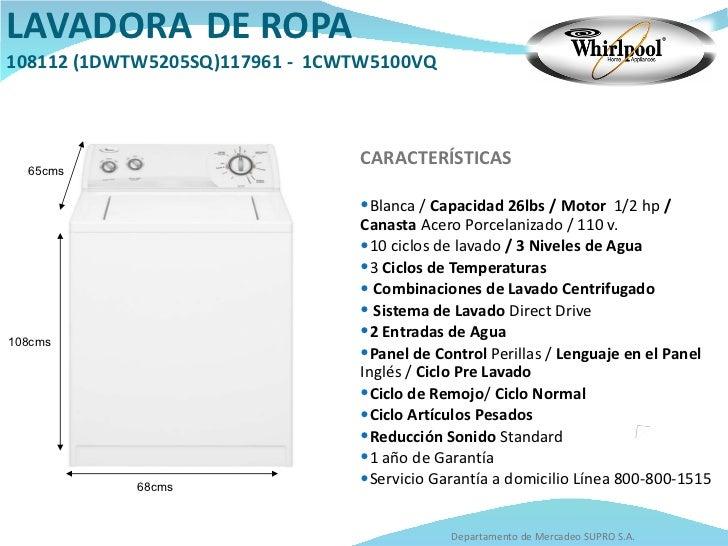 Catalogo whirlpool for Cuanto pesa lavadora
