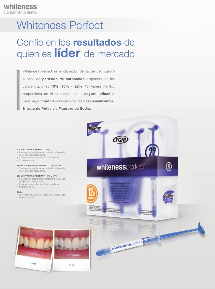 Whiteness Blanqueamiento Dental Catalogo Espanol