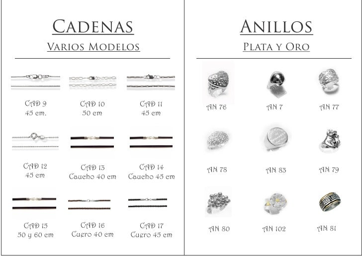 3df72cb203c8 Cadenas Anillos Varios Modelos Plata ...