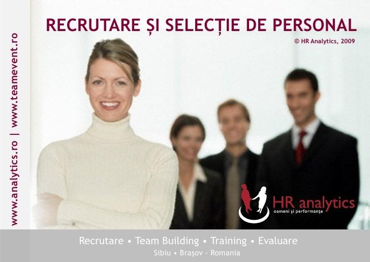 Catalog Prezentare - Recrutarea si Selectia Personalului