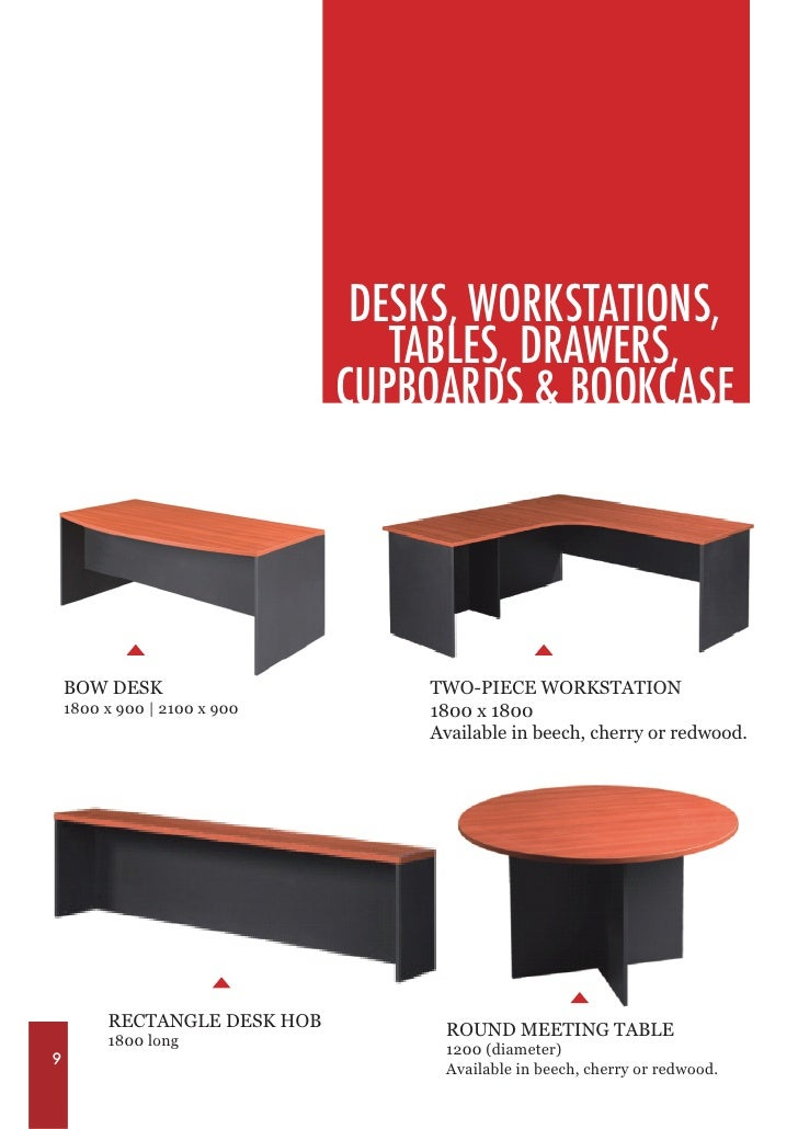 DESKS, WORKSTATIONS ...