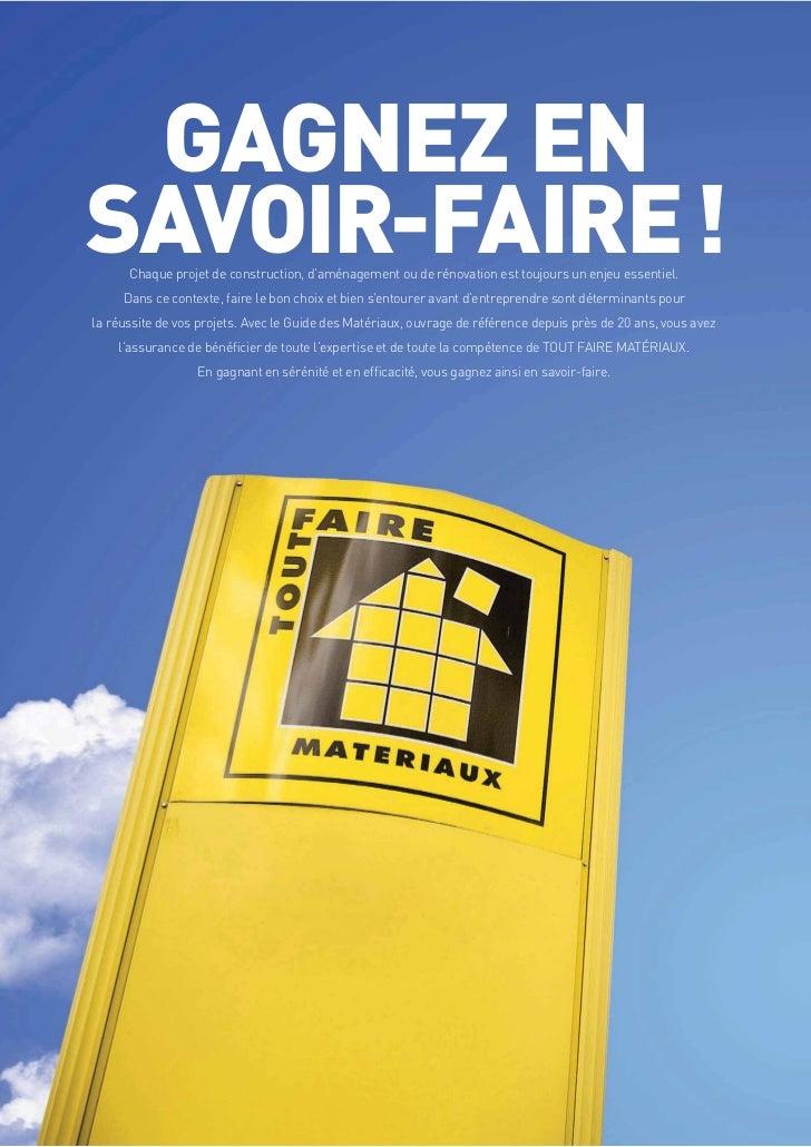 Ordinaire Tout Faire Materiaux Guise #2: 404 POURPAGESTOUT FAIREGUIDE DES MATÉRIAUX 2012; 2. GAGNEZ ENSAVOIR-FAIRE !