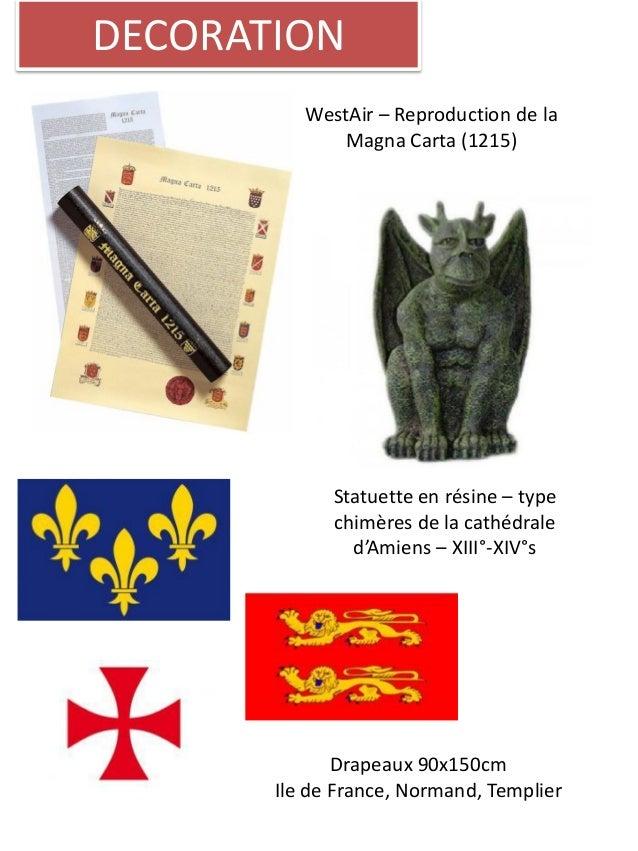 DECORATION WestAir – Reproduction de la Magna Carta (1215) Statuette en résine – type chimères de la cathédrale d'Amiens –...