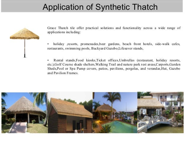 Artificial Thatch Roof Decoration Material For Resort