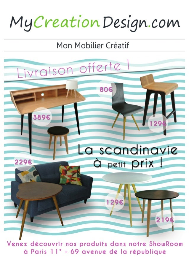 Catalogue Mobilier Design et Créatif MYCREATIONDESIGN.COM