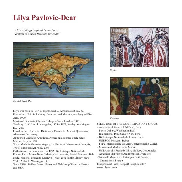 "Lilya Pavlovic-Dear The Silk Road Map Venice Oil Paintings inspired by the book ""Travels of Marco Polo the Venetian"" Carav..."