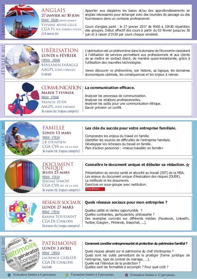 FORMATION DU CGA DE REIMS Slide 2