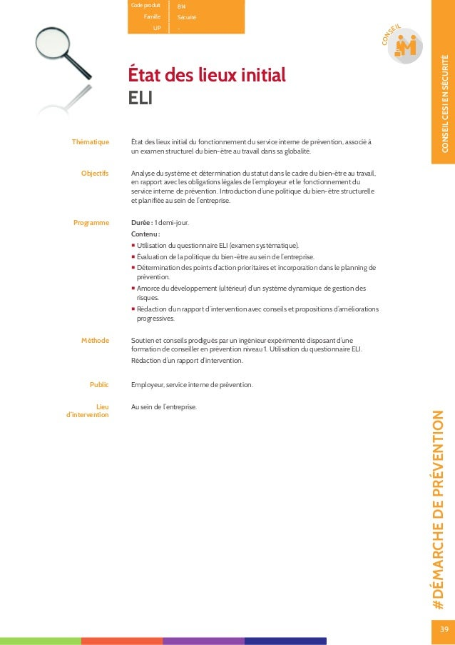 40 CONSEILCESIENSÉCURITÉ 40 CON SEIL Safety Pack : mise en conformité et dynamisation des politiques de bien- être au trav...