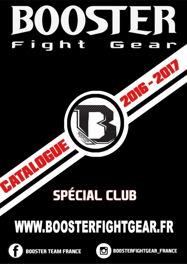 Catalogue Booster Fight Gear France spécial club 2016