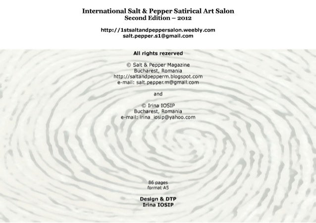 Catalogue of INTERNATIONAL SALT & PEPPER SATIRICAL ART