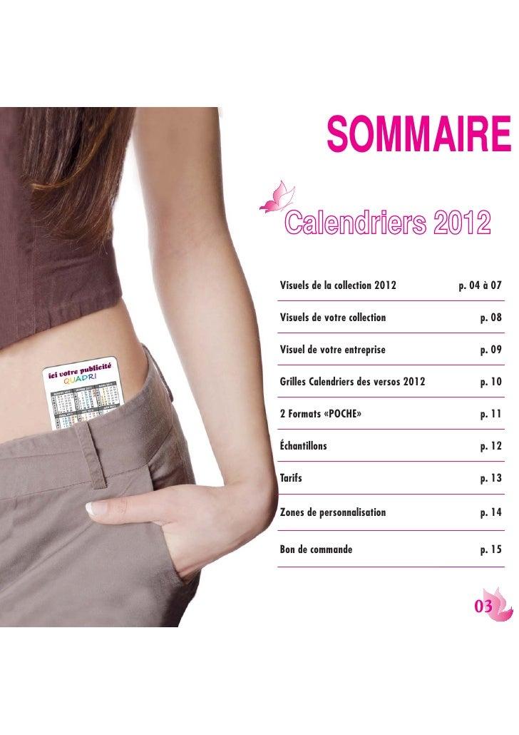 9533/8+Visuels de la collection 2012         p. 04 à 07Visuels de votre collection                p. 08Visuel de votre ent...